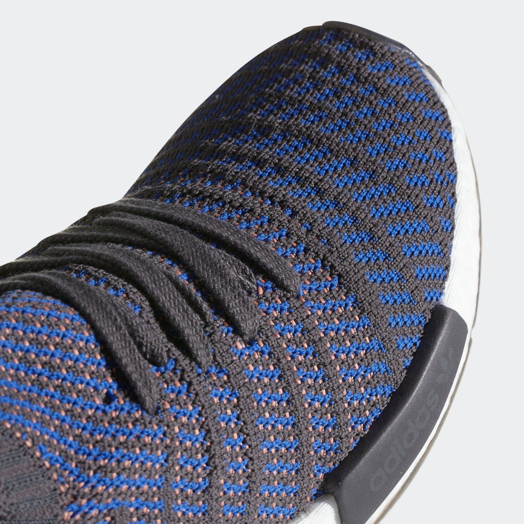 Mens adidas NMD_R1 STLT Primeknit Shoes Blue CQ2388 | Chicago City Sports | toe area view