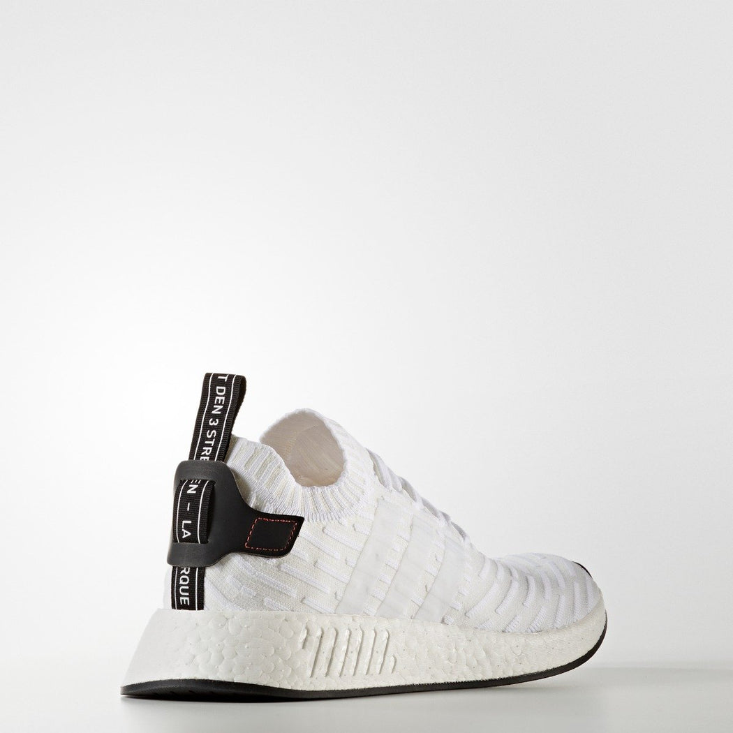 Men's adidas Originals NMD R2 Primeknit Shoes White with Touch of Red