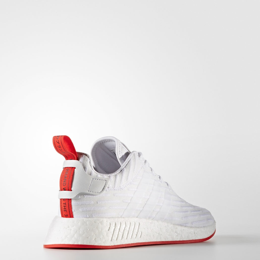Men's adidas Originals NMD_R2 Primeknit Shoes White Red