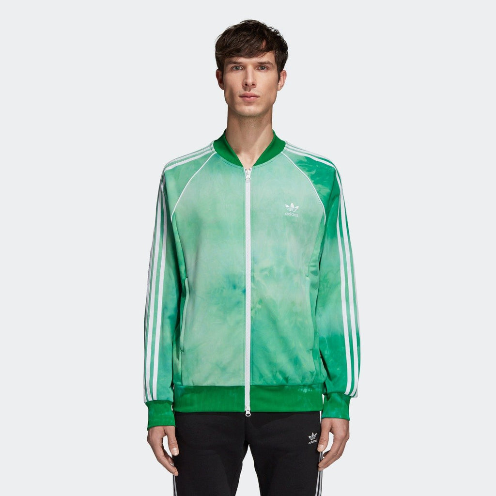 Men's adidas Originals Pharrell Williams Hu Holi SST Track Jacket Green