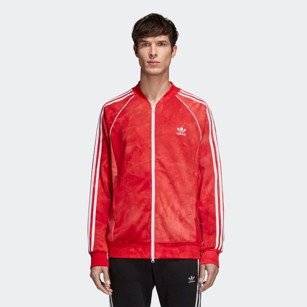 Men's adidas Originals Pharrell Williams Hu Holi SST Track Jacket Scarlet Red