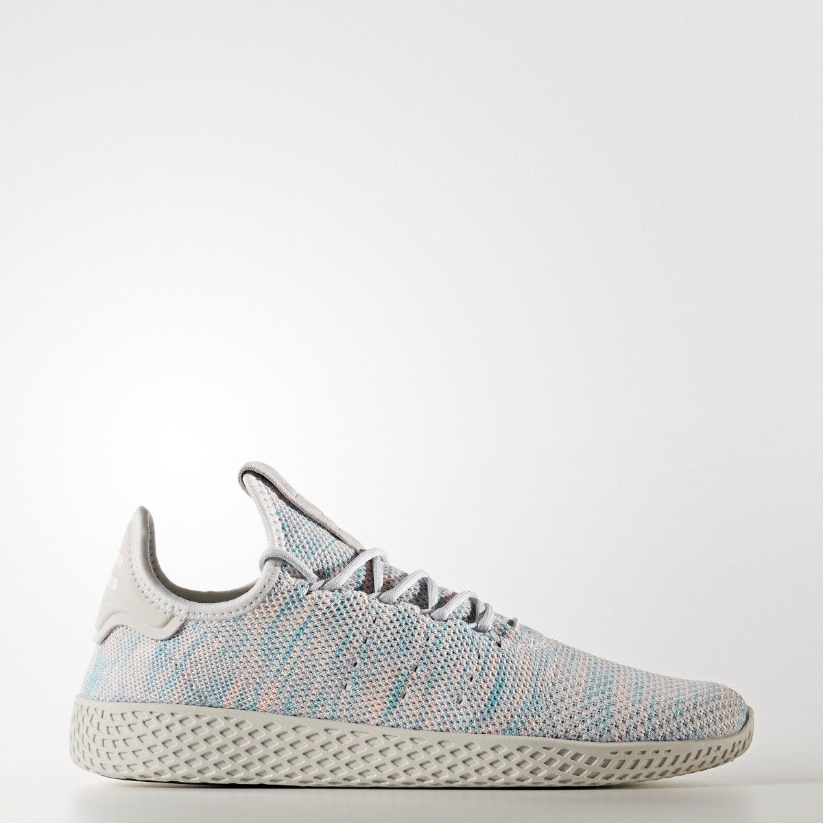 49b3ea19c1949 Men s adidas Originals Pharrell Williams Tennis Hu Shoes Blue Pink Grey