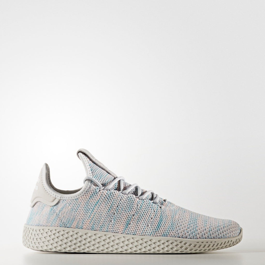 Men's adidas Originals Pharrell Williams Tennis Hu Shoes Blue Pink Grey