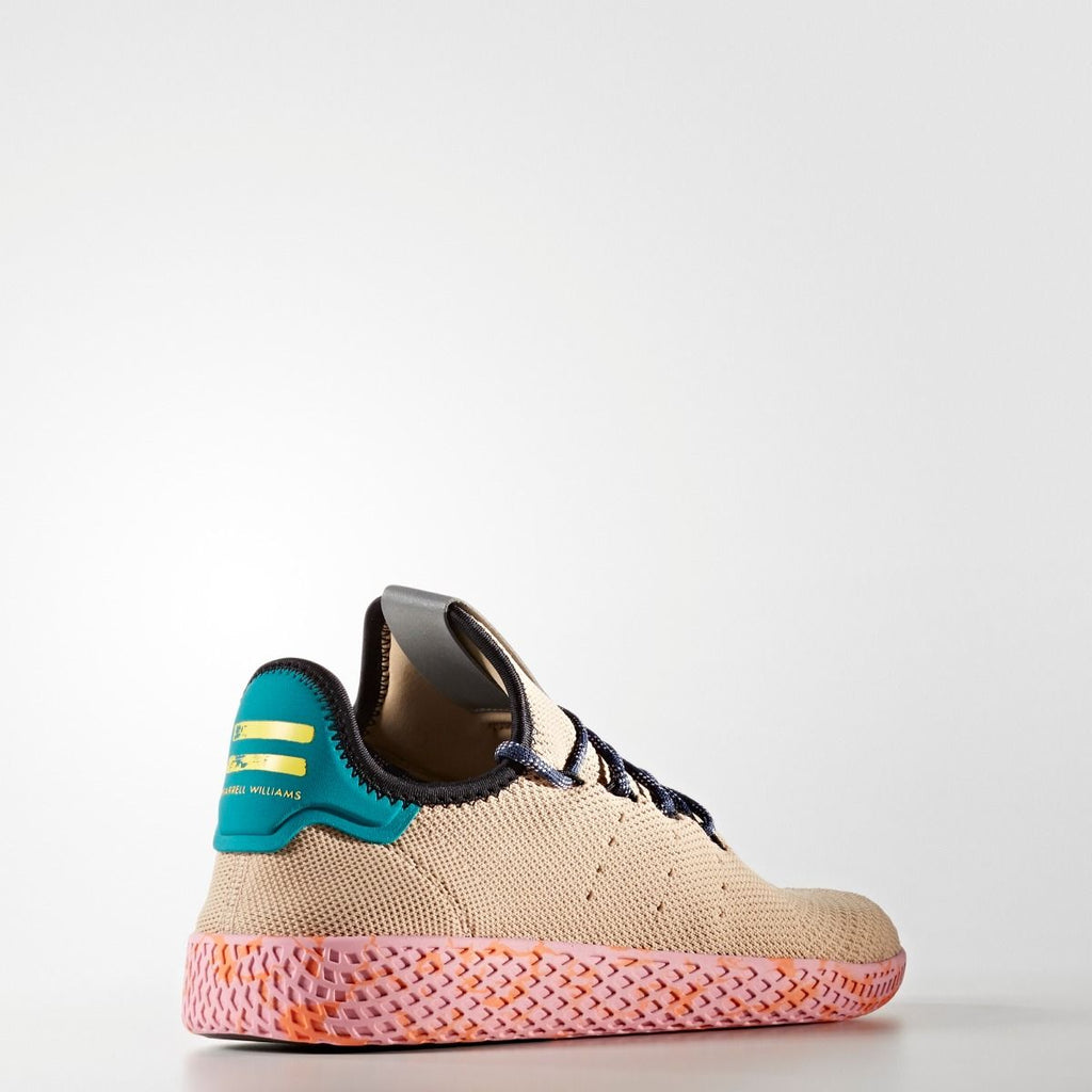 Men's adidas Originals Pharrell Williams Tennis Hu Shoes Tan