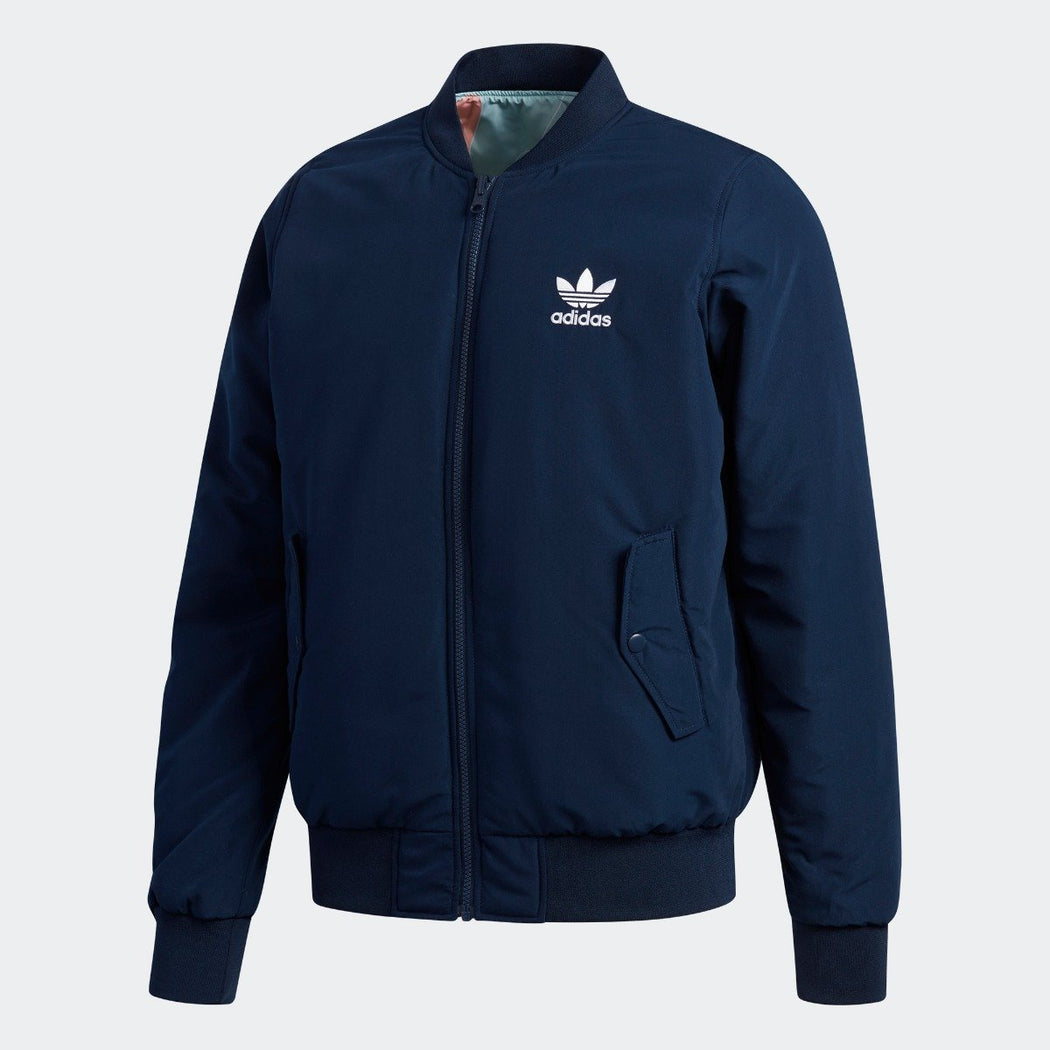 Men's Adidas Originals Reversible Bomber Jacket Collegiate Navy