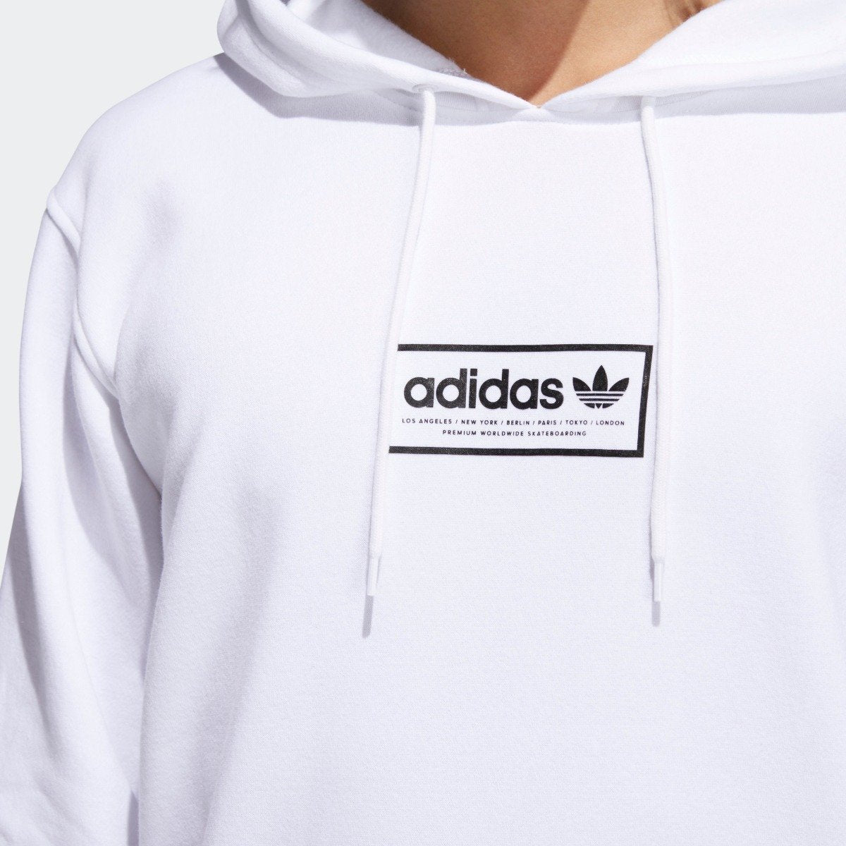 new style new high quality casual shoes Men's adidas Originals Spell Out Hoodie White CF3137 ...