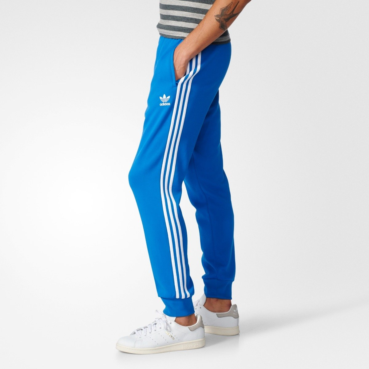e57c13943470 Men s adidas Originals SST Cuffed Track Pants Blue BK5932