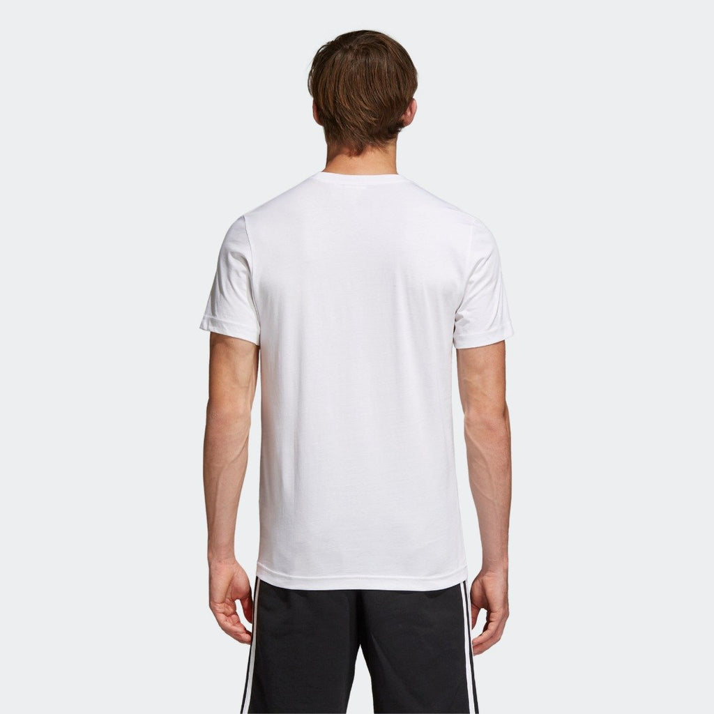 Men's adidas Originals Traction in Action Photo Tee White CE2249 | Chicago City Sports | rear view on model