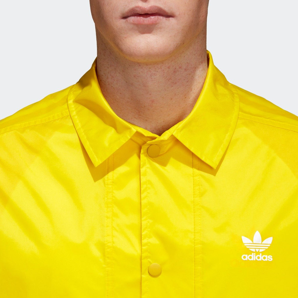 Men's adidas Originals Trefoil Coach Jacket Yellow