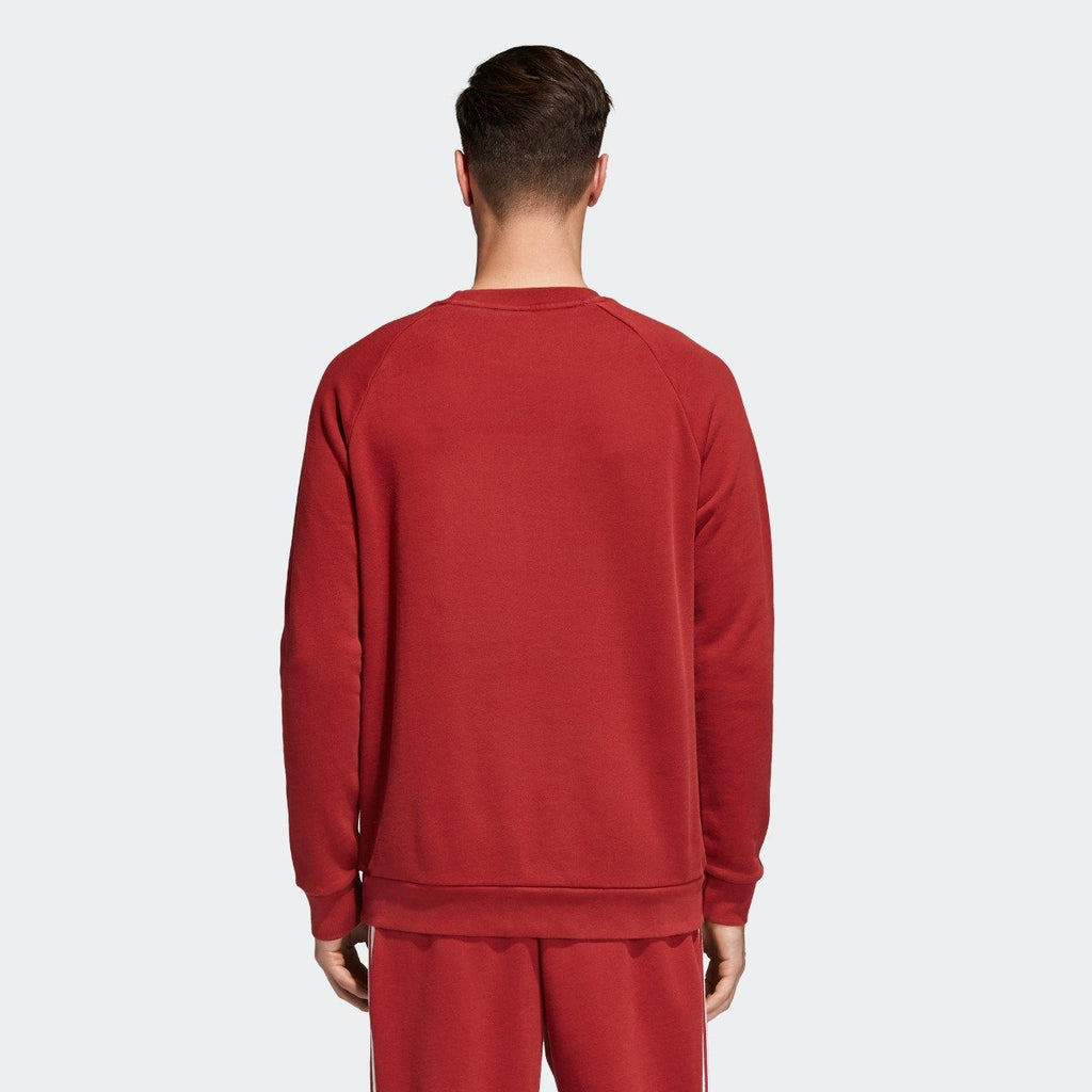 Men's adidas Originals Trefoil Crew Sweatshirt Rust Red