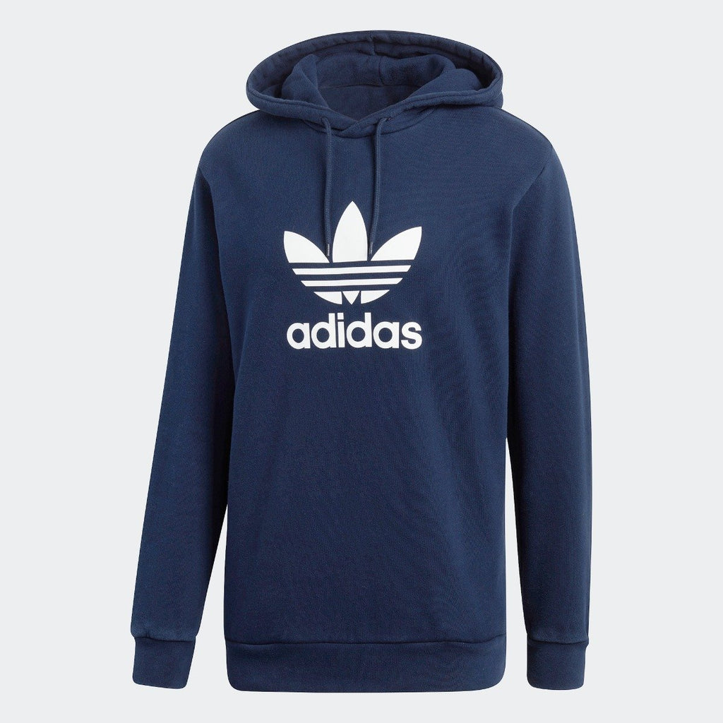 Men's adidas Originals Trefoil Hoodie Collegiate Navy with White CX1900 | Chicago City Sports | front view
