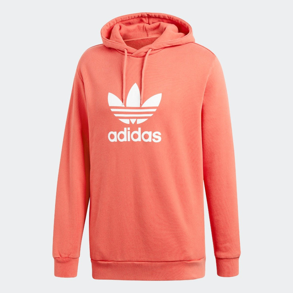 well known best famous brand Men's adidas Originals Trefoil Hoodie Trace Scarlet Red