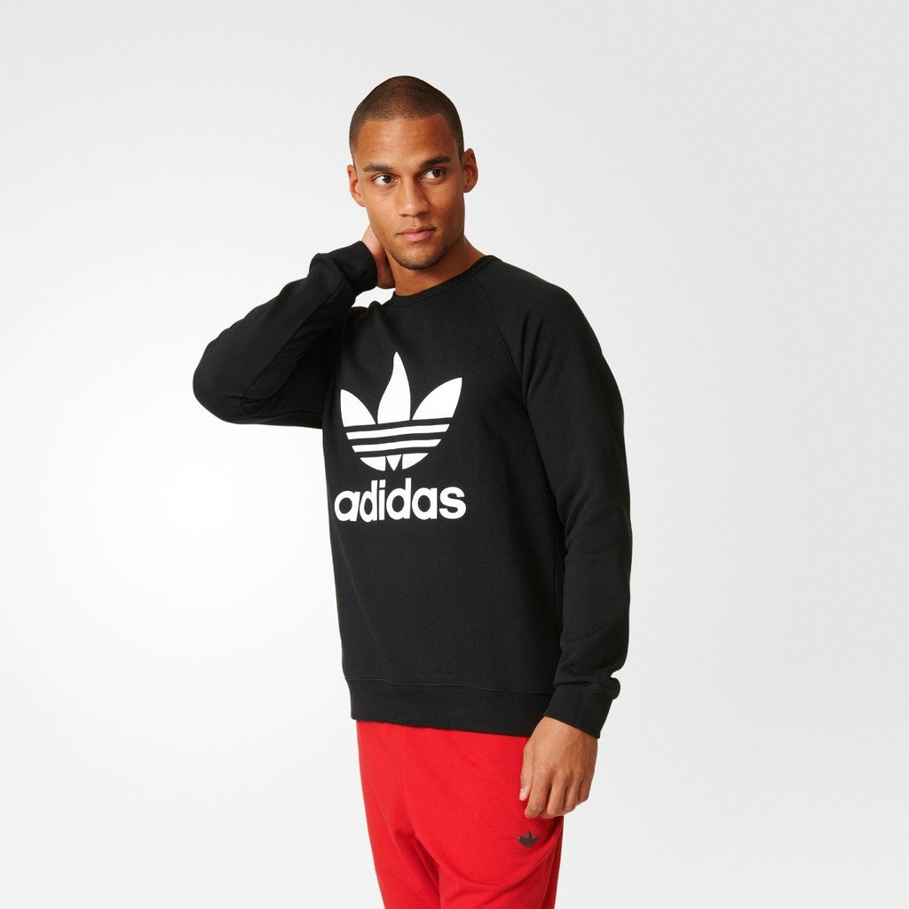 Men's adidas Originals Trefoil Sweatshirt Black