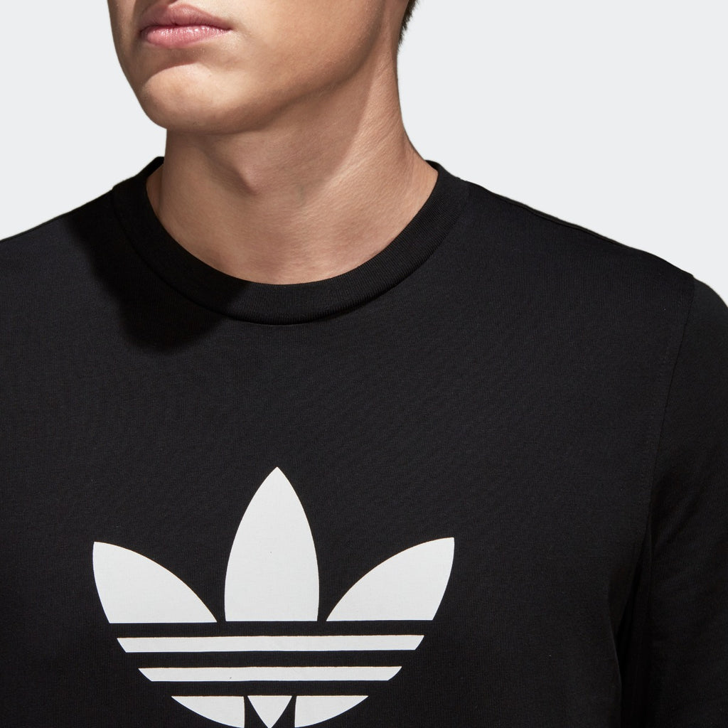 Men's adidas Originals Trefoil Tee Black with White