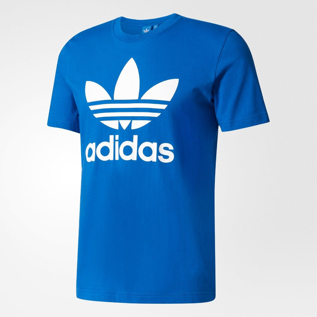Men's Adidas Originals Trefoil Tee Blue