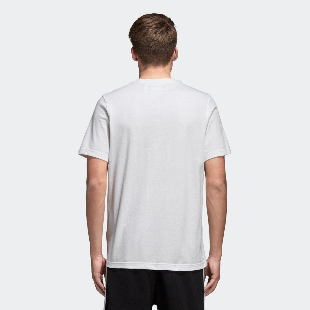 Men's adidas Trefoil Tee White with Black CW0710 | Chicago City Sports | rear view