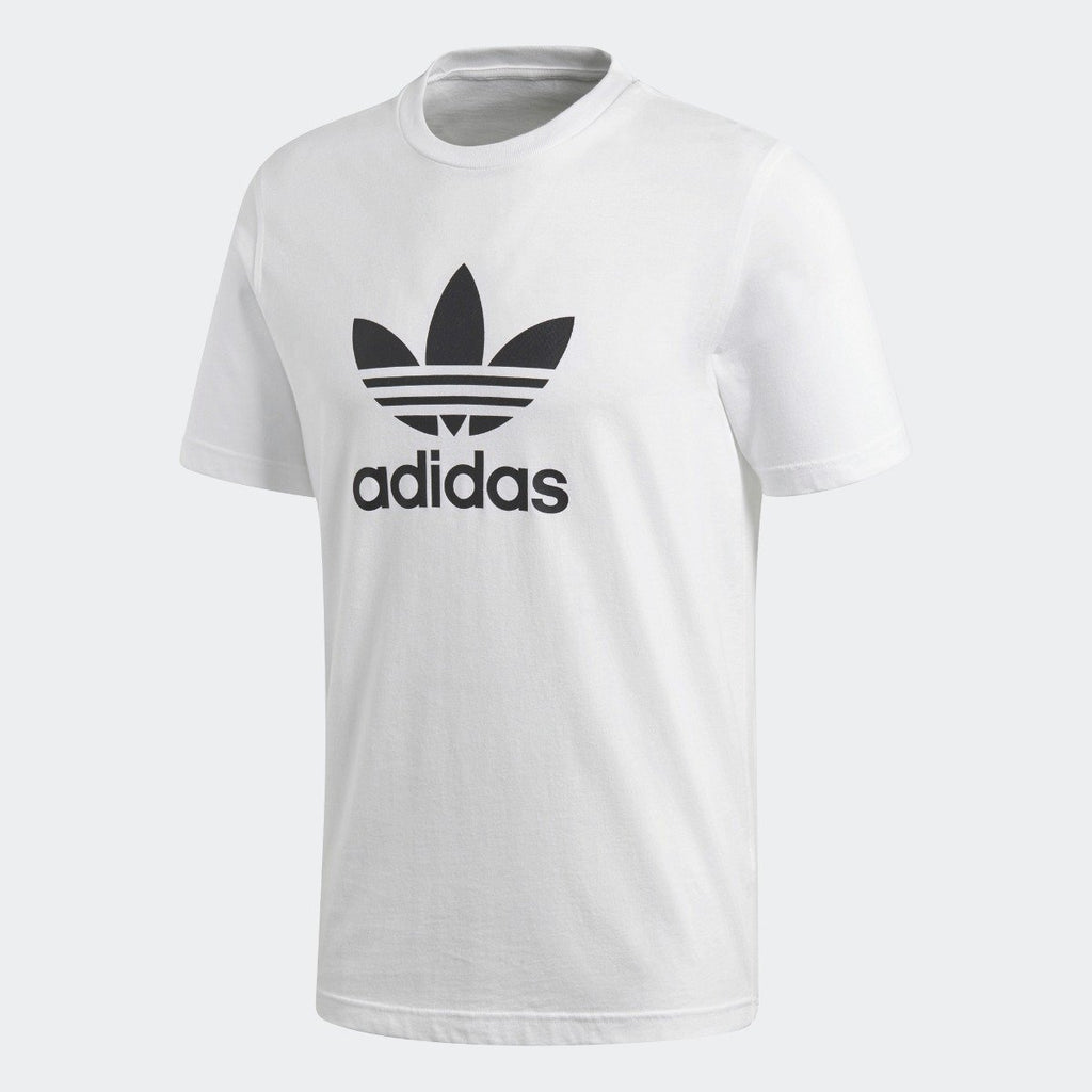 Men's adidas Trefoil Tee White with Black CW0710 | Chicago City Sports | front view
