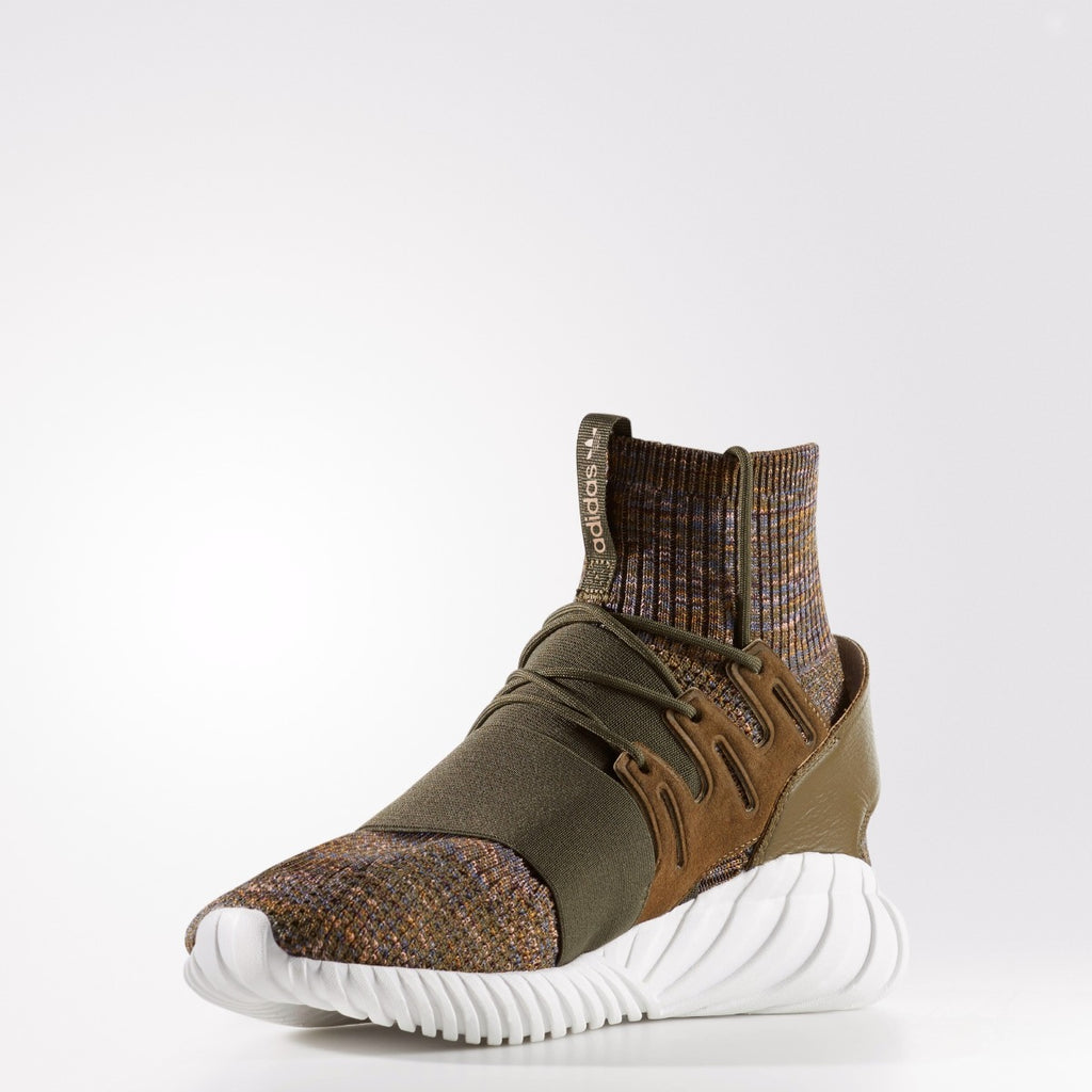 Men's adidas Originals Tubular Doom Primeknit Shoes Trace Olive