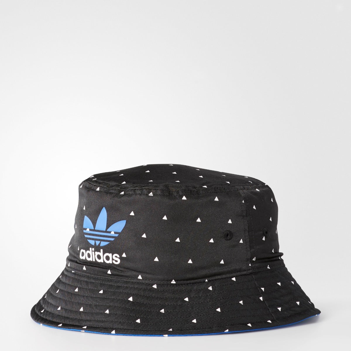 Men s Adidas Originals X Pharrell Williams Reversible Bucket Hat Black   Blue. 1 2112c3d5b275