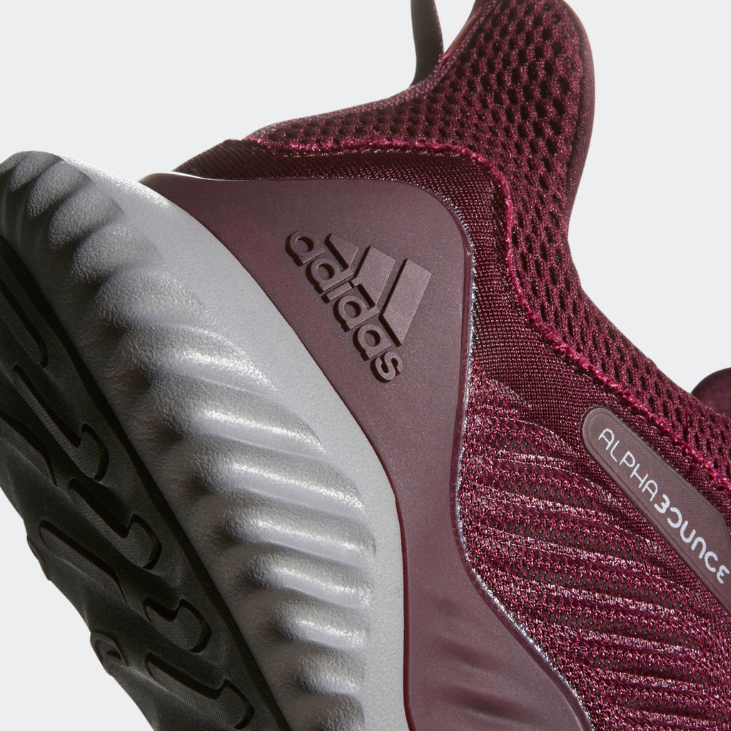 Men's adidas Running Alphabounce Beyond Shoes Maroon Mystery Red CG4761 | Chicago City Sports | detailed heel view