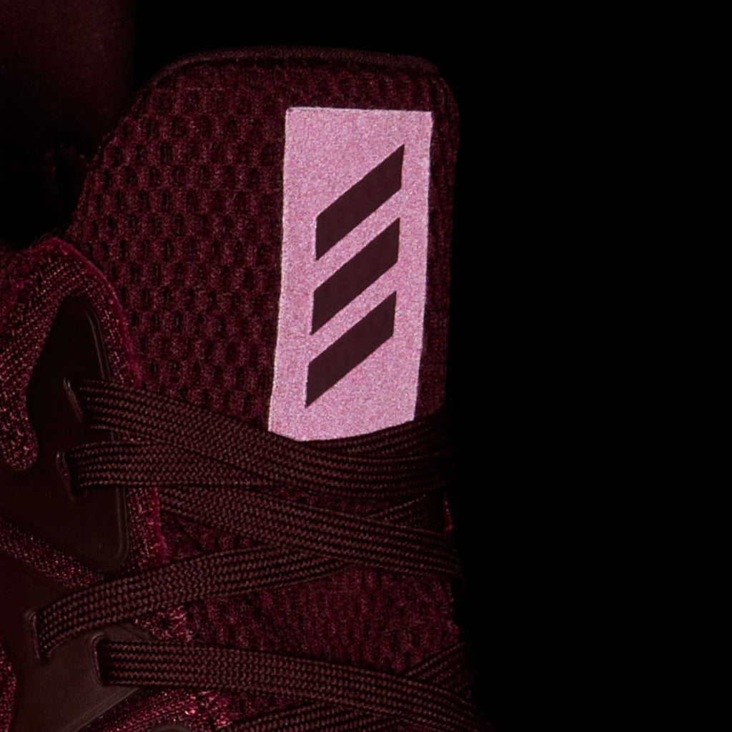 Men's adidas Running Alphabounce Beyond Shoes Maroon Mystery Red CG4761 | Chicago City Sports | tongue view in the dark
