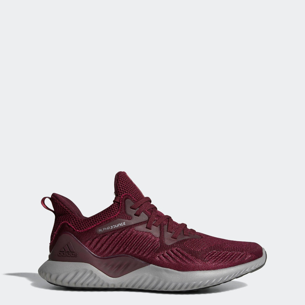 Men's adidas Running Alphabounce Beyond Shoes Maroon Mystery Red CG4761 | Chicago City Sports | side view