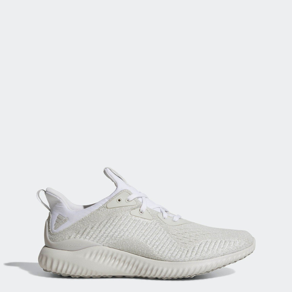 Men's adidas Running Alphabounce EM Shoes Silver Metallic with White