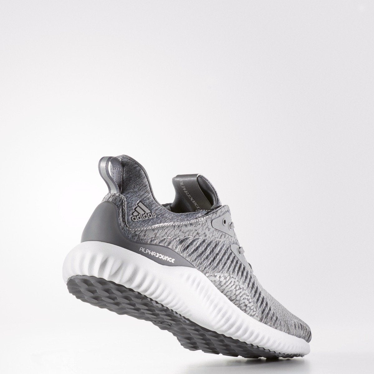 buy popular dcc2f ffabe Mens adidas Running Alphabounce Reflective HPC AMS Shoes Grey. 1