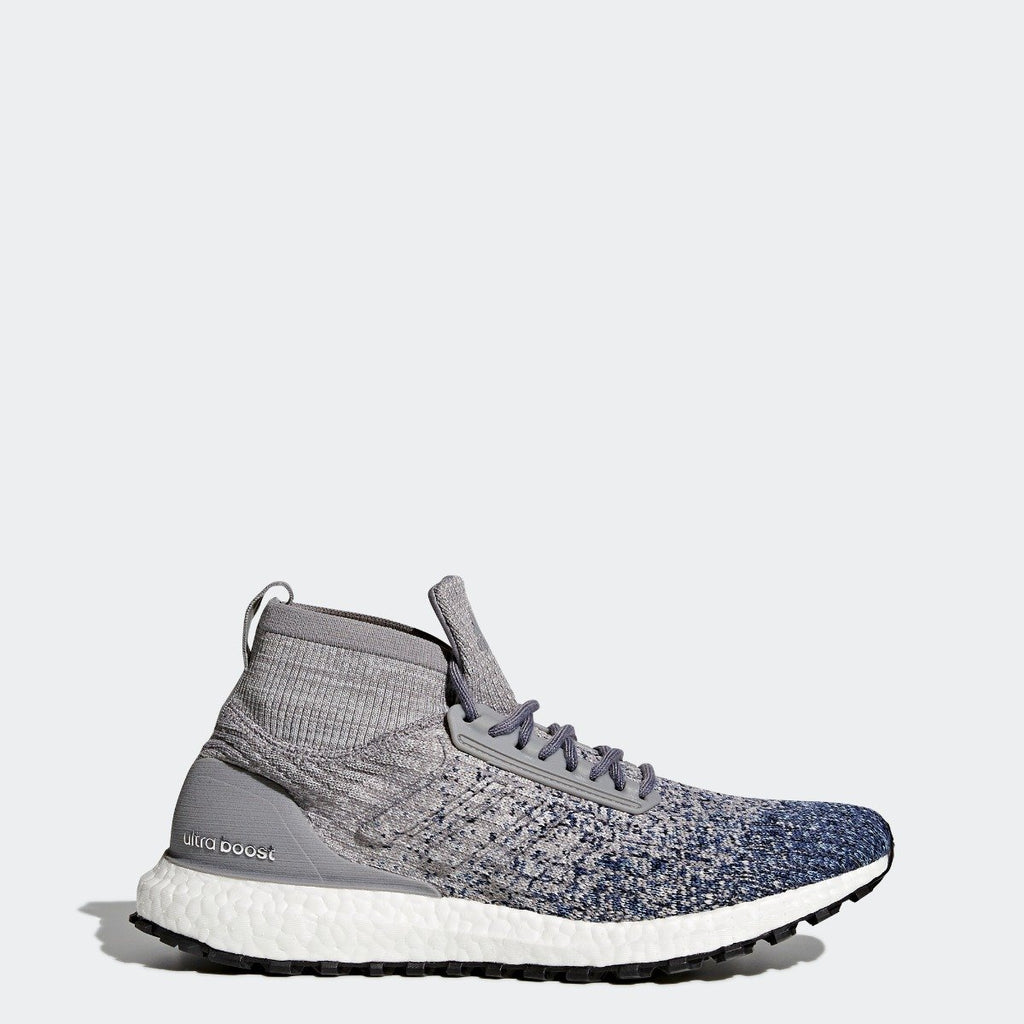 Men's adidas Running Ultraboost All Terrain Shoes Grey with Noble Indigo