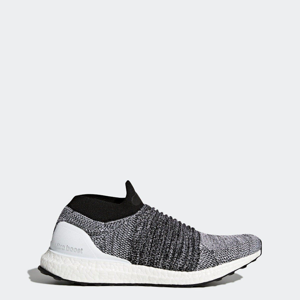 Men's adidas Running Ultraboost Laceless Shoes Black and White