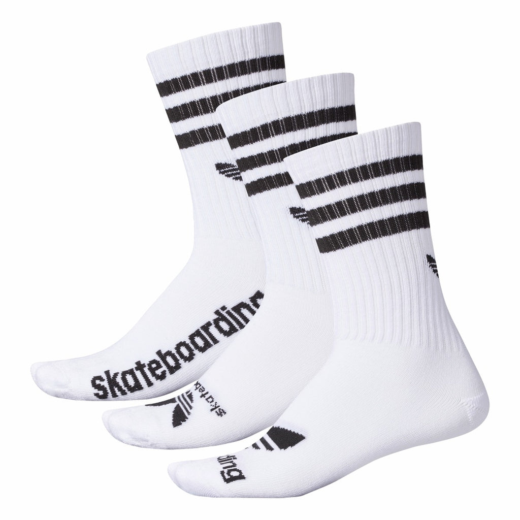 Men's Adidas Skateboarding 3 Pair Crew Socks