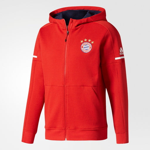 Men's adidas Soccer FC Bayern Munich Anthem Squad Hoodie True Red