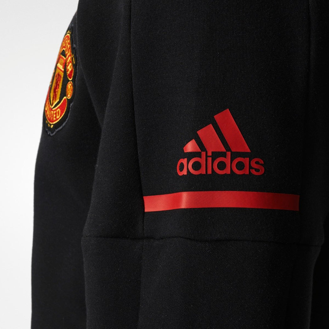 Men's adidas Soccer Manchester United Anthem Squad Hoodie Black