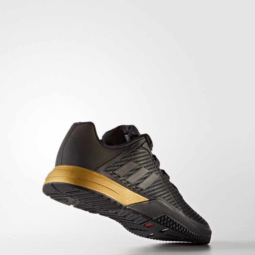 Men's adidas Training CrazyPower Trainer Shoes Black Gold Metallic