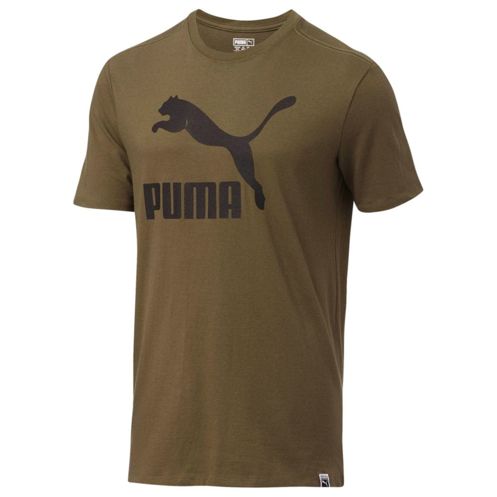 Men's PUMA Archive Life T-Shirt Olive Night