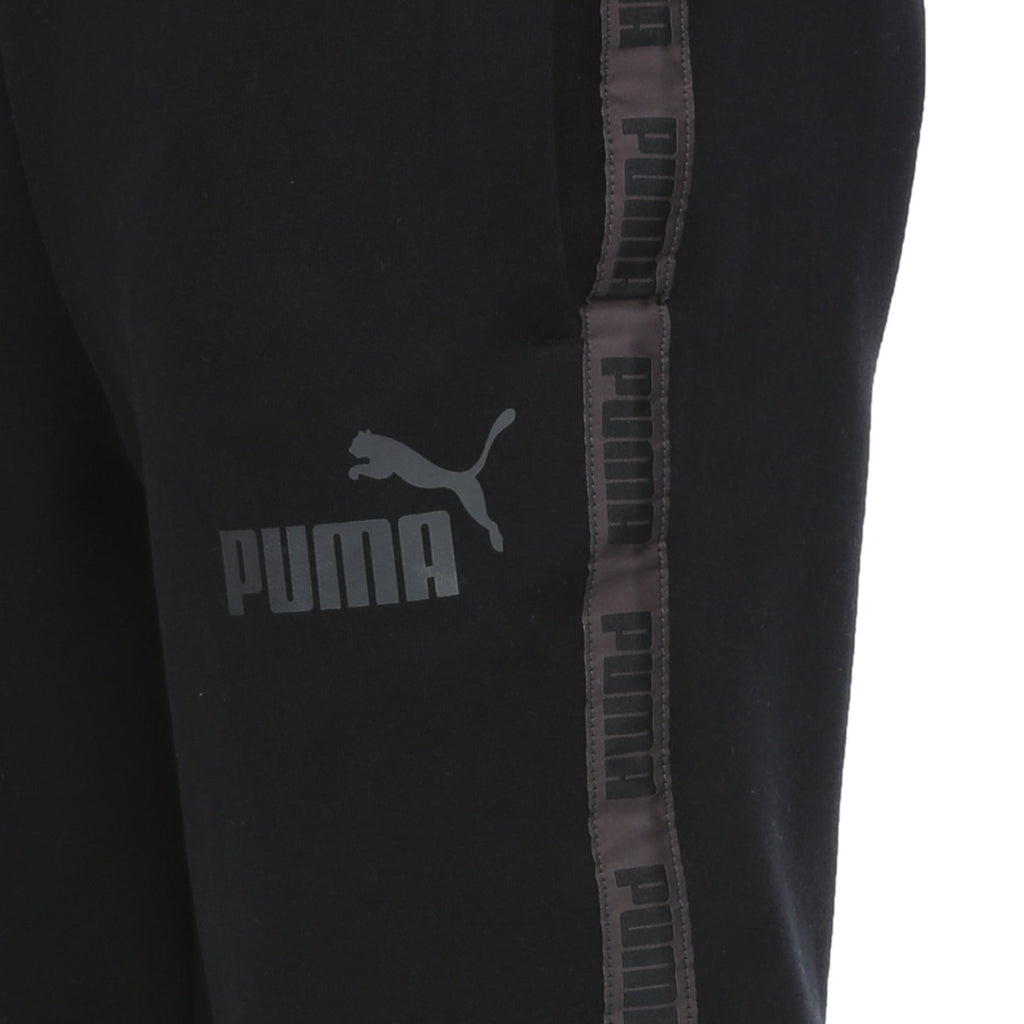 Men's PUMA Rebel Tape Sweatpants Black