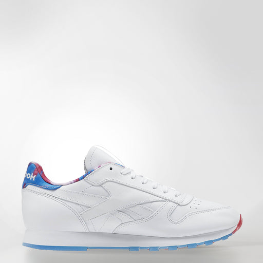 MEN'S REEBOK CLASSIC LEATHER MSP HORIZONE BLUE/ PINK CRAZE