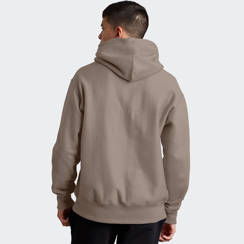 Champion Life Reverse Weave Hoodie Dark Khaki | Chicago City Sports | rear view