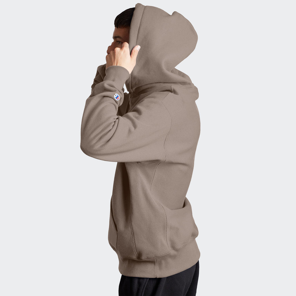 Champion Life Reverse Weave Hoodie Dark Khaki | Chicago City Sports | side view