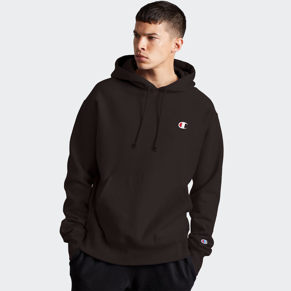 Men's Champion Life Reverse Weave Hoodie Caviar Brown