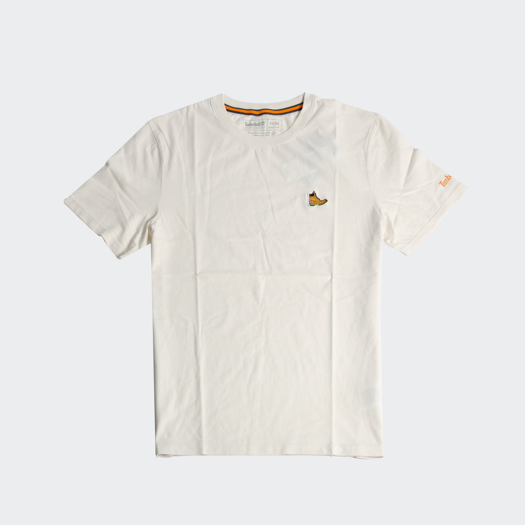 Men's Timberland Boot Logo T-Shirt White