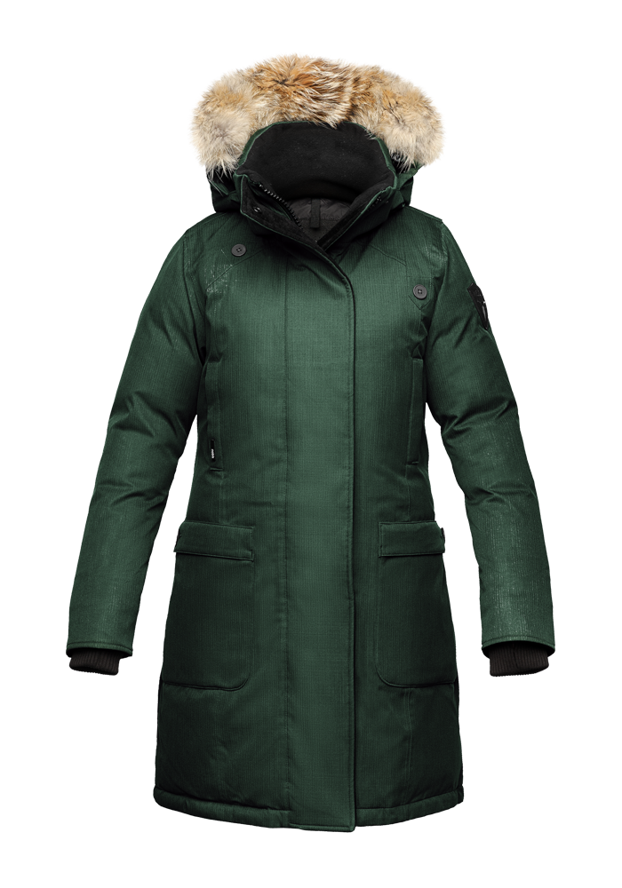 Women's Nobis The Merideth Winter Jacket Crosshatch Forest SKU MERIDETHFRS | Chicago City Sports | front view