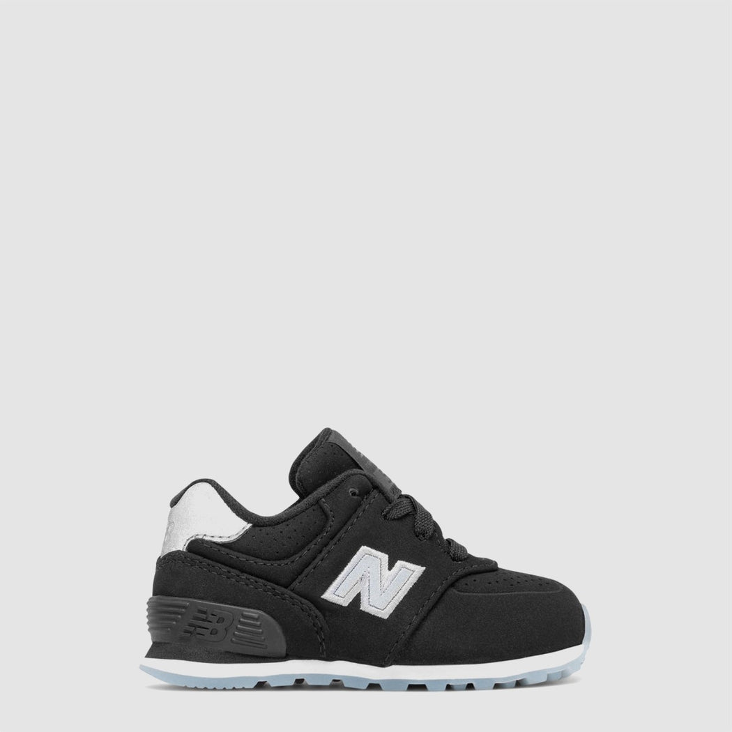 Infant New Balance 574 Luxe Rep Black