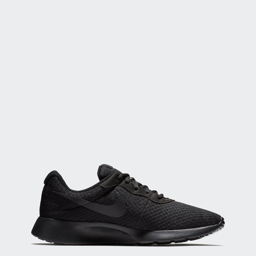 Men's Nike Tanjun Shoes Black 812654001 | Chicago City Sports | side view
