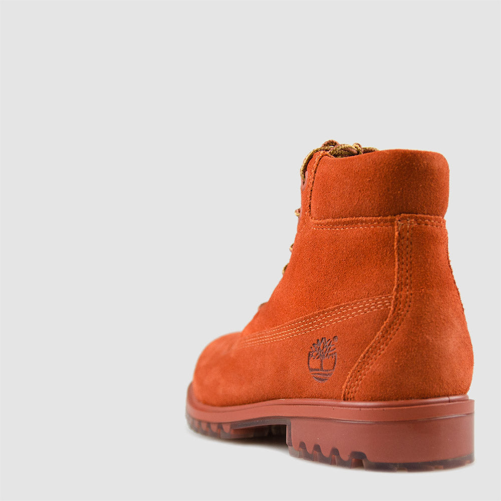 KID'S TIMBERLAND 6-INCH PREMIUM SUEDE WATERPROOF BOOTS DARK ORANGE