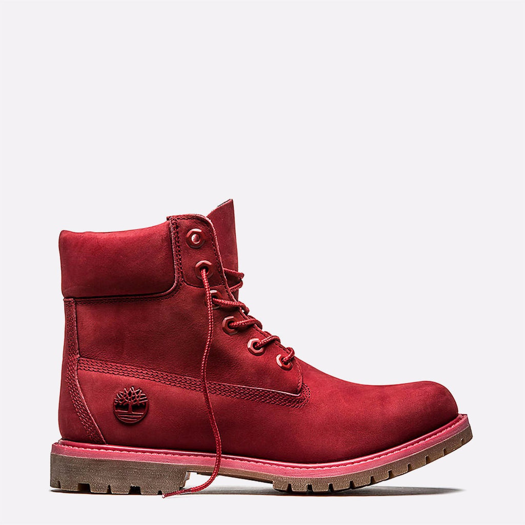 Women's Timberland 6-Inch Premium Waterproof Boots Ruby Red