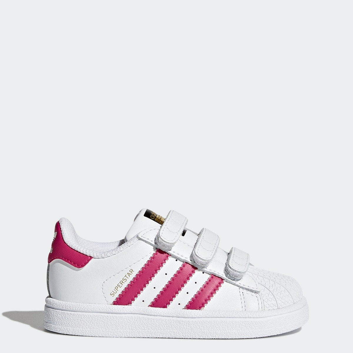 White Bold Originals Superstar Velcro Pink Toddler's Adidas Shoes 0OZnPNkX8w