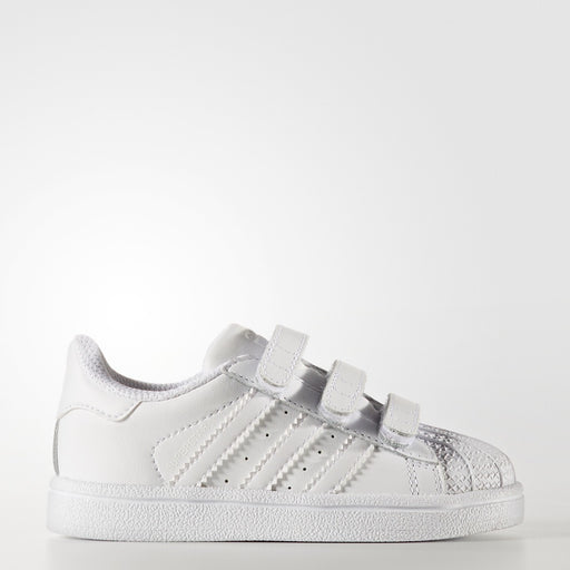 Toddler's adidas Originals Superstar Velcro Shoes Triple White