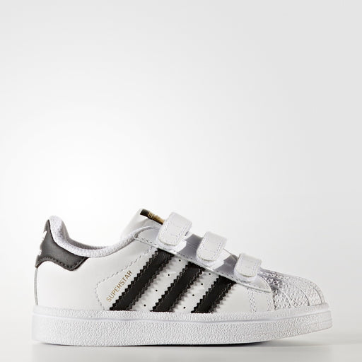 Toddler's adidas Originals Superstar Velcro Shoes White with Black