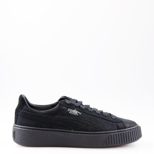 Women's Puma Basket Platform Reset Sneakers Black